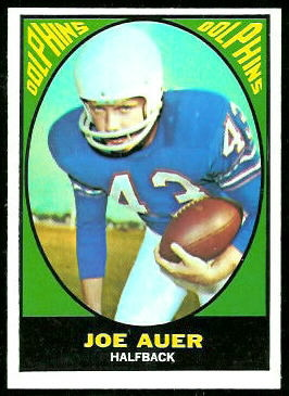 Joe Auer 1967 Topps football card