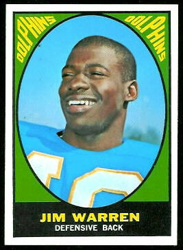 Jim Warren 1967 Topps football card
