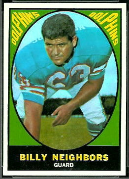 Bill Neighbors 1967 Topps football card