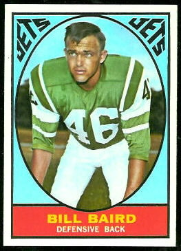 Bill Baird 1967 Topps football card