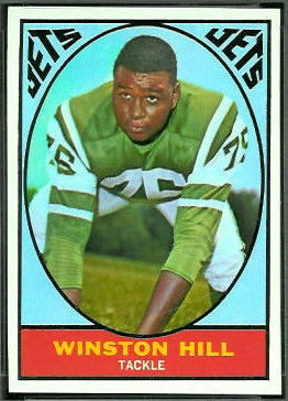 Winston Hill 1967 Topps football card