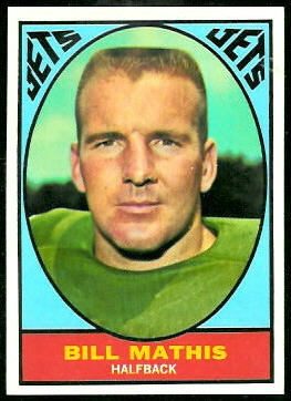 Bill Mathis 1967 Topps football card