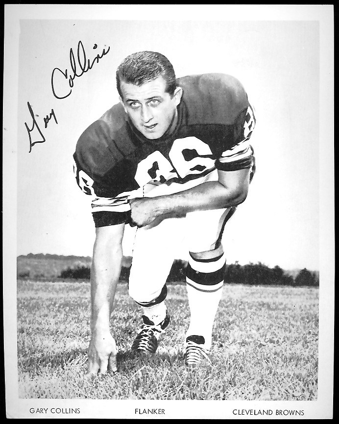 Gary Collins 1968 Browns Team Issue 7x8 football card
