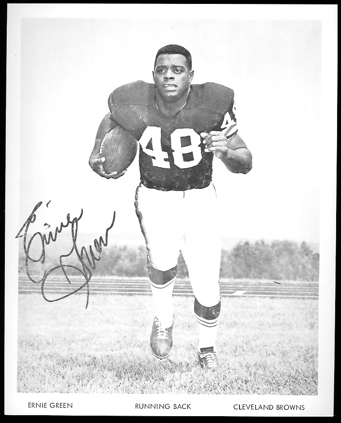 Ernie Green 1968 Browns Team Issue 7x8 football card