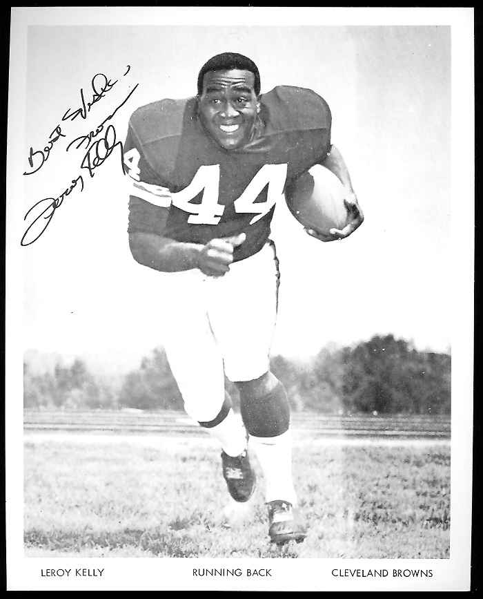Leroy Kelly 1968 Browns Team Issue 7x8 football card