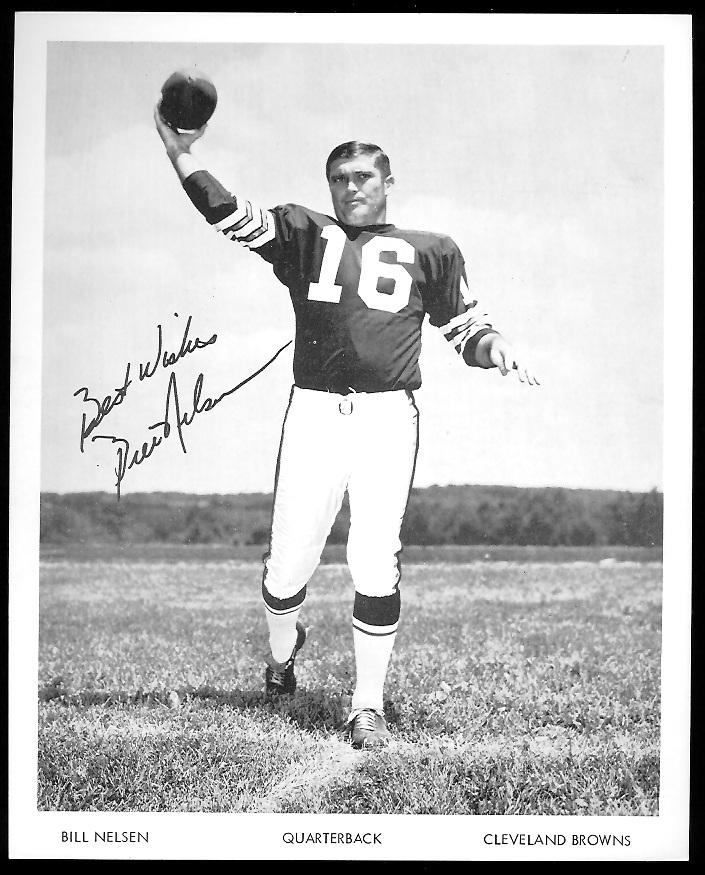 Bill Nelsen 1968 Browns Team Issue 7x8 football card