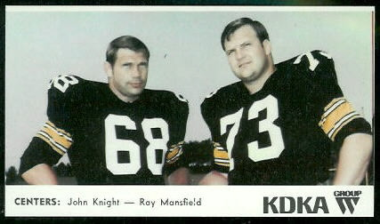 Centers 1968 KDKA Steelers football card