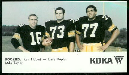 Rookies 1968 KDKA Steelers football card