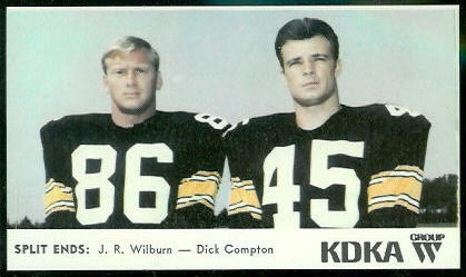 Split Ends 1968 KDKA Steelers football card