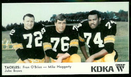 Tackles 1968 KDKA Steelers football card