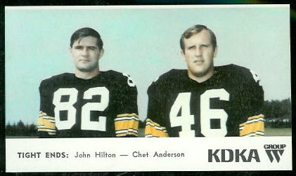 Tight Ends 1968 KDKA Steelers football card