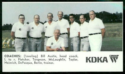Coaches 1968 KDKA Steelers football card