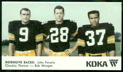 Defensive Backs 1968 KDKA Steelers football card