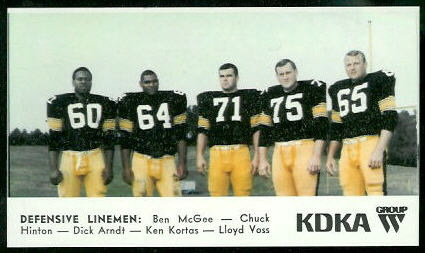 Defensive Linemen 1968 KDKA Steelers football card