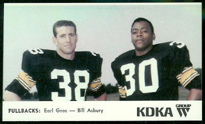 Fullbacks 1968 KDKA Steelers football card