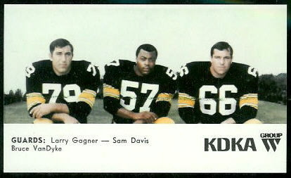 Guards 1968 KDKA Steelers football card