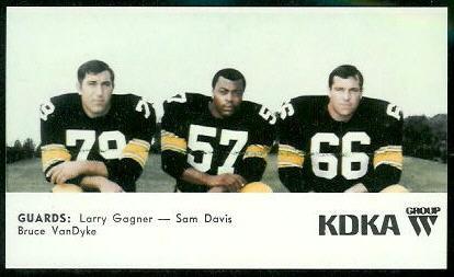 Guards 1968 KDKA Steelers football card