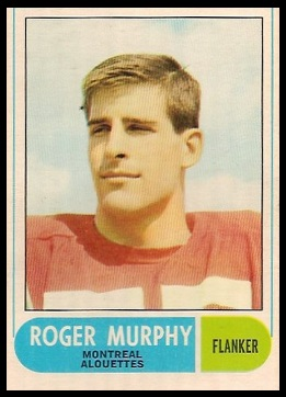 Roger Murphy 1968 O-Pee-Chee CFL football card