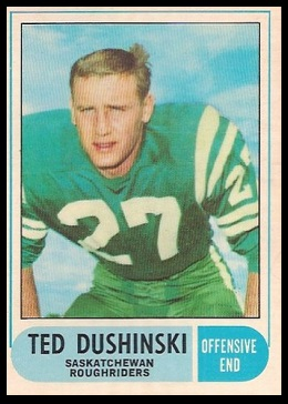 Ted Dushinski 1968 O-Pee-Chee CFL football card