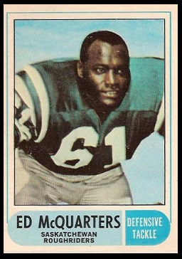 Ed McQuarters 1968 O-Pee-Chee CFL football card