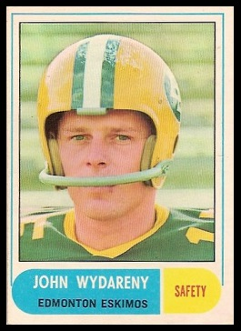 John Wydareny 1968 O-Pee-Chee CFL football card