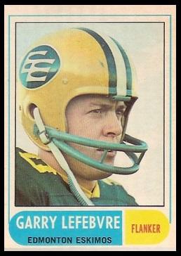 Garry Lefebvre 1968 O-Pee-Chee CFL football card