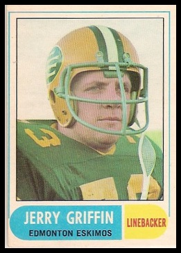 Jerry Griffin 1968 O-Pee-Chee CFL football card