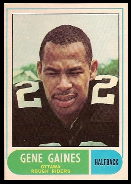 Gene Gaines 1968 O-Pee-Chee CFL football card