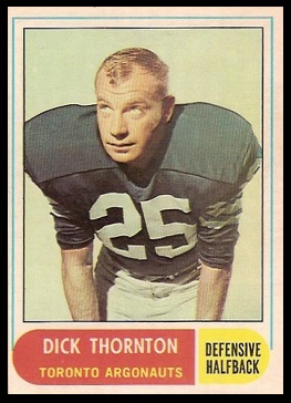Dick Thornton 1968 O-Pee-Chee CFL football card