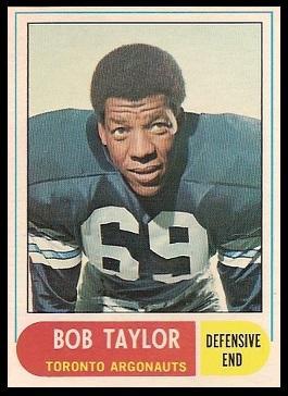 Bob Taylor 1968 O-Pee-Chee CFL football card