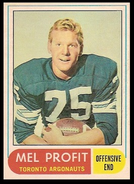 Mel Profit 1968 O-Pee-Chee CFL football card