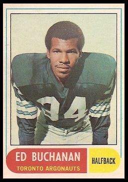 Ed Buchanan 1968 O-Pee-Chee CFL football card
