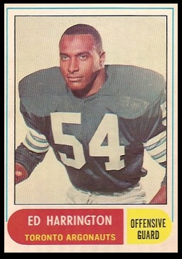 Ed Harrington 1968 O-Pee-Chee CFL football card