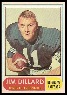 Jim Dillard 1968 O-Pee-Chee CFL football card