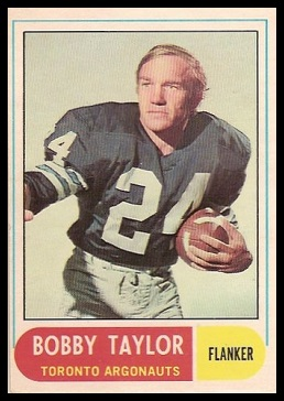 Bobby Taylor 1968 O-Pee-Chee CFL football card