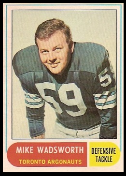 Mike Wadsworth 1968 O-Pee-Chee CFL football card