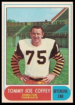 Tommy Joe Coffey 1968 O-Pee-Chee CFL football card
