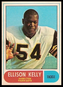 Ellison Kelly 1968 O-Pee-Chee CFL football card