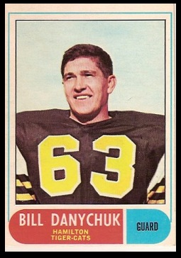 Bill Danychuk 1968 O-Pee-Chee CFL football card