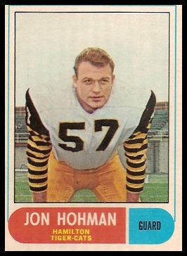 Jon Hohman 1968 O-Pee-Chee CFL football card