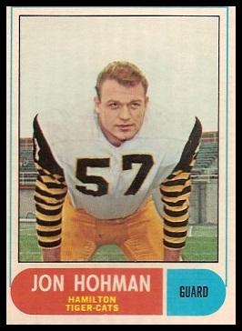 Jon Hohman 1968 O-Pee-Chee CFL football card