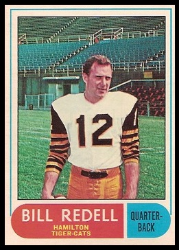 Bill Redell 1968 O-Pee-Chee CFL football card