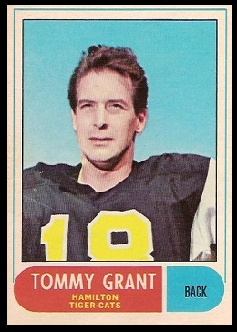 Tommy Grant 1968 O-Pee-Chee CFL football card