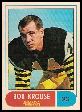 Bob Krouse 1968 O-Pee-Chee CFL football card