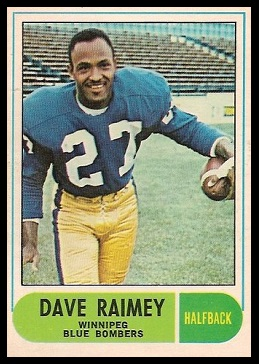 Dave Raimey 1968 O-Pee-Chee CFL football card