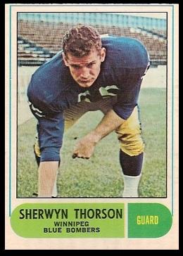 Sherwyn Thorson 1968 O-Pee-Chee CFL football card