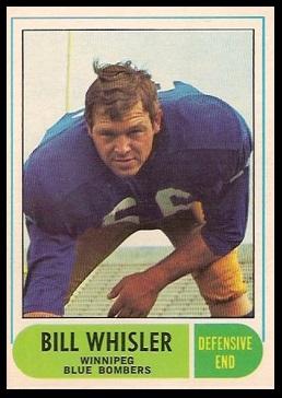 Bill Whisler 1968 O-Pee-Chee CFL football card