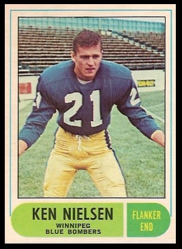 Ken Nielsen 1968 O-Pee-Chee CFL football card