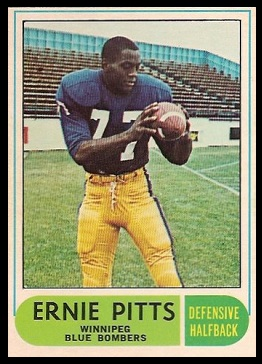 Ernie Pitts 1968 O-Pee-Chee CFL football card