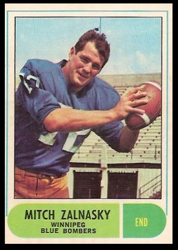 Mitch Zalnasky 1968 O-Pee-Chee CFL football card